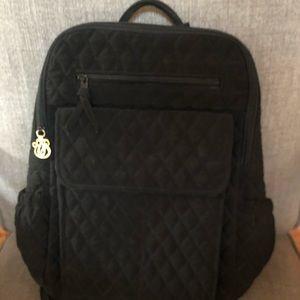 Vera Bradley quilted black Backpack.